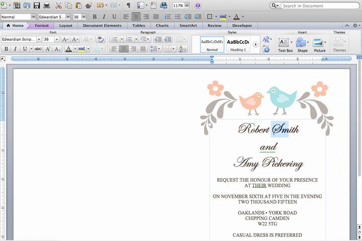 Making Invitations On Microsoft Word Beautiful Diy Tutorial Free Printable Invitation and Rsvp Card