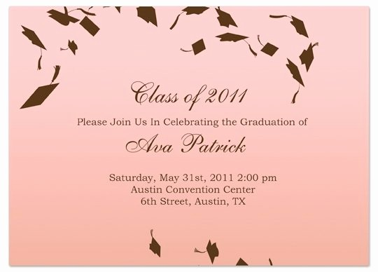 Making Invitations On Microsoft Word Best Of Graduation Invitation Templates Microsoft Word
