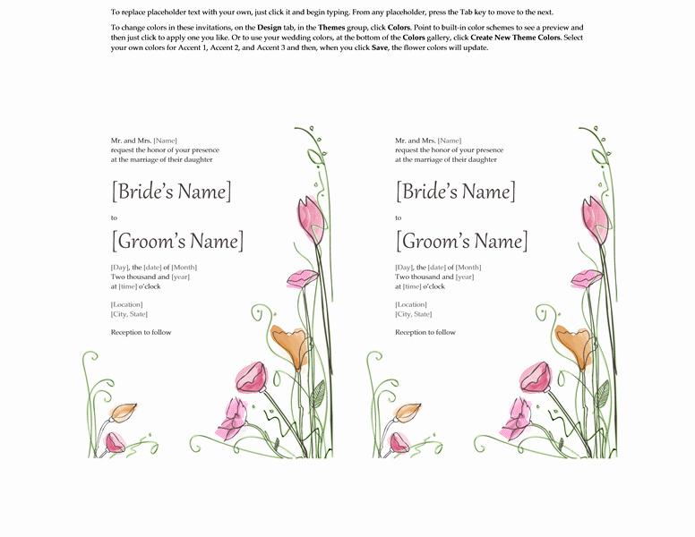 Making Invitations On Microsoft Word Elegant Microsoft Word 2013 Wedding Invitation Templates