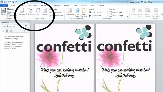Making Invitations On Microsoft Word New How to Make Your Own Wedding Invitations Confetti
