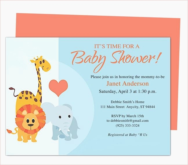 Making Invitations On Microsoft Word New Microsoft Word Baby Shower Invitation Templates Ba Shower