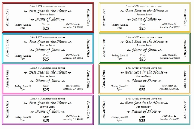 Making Your Own Raffle Tickets Luxury event Ticket Template
