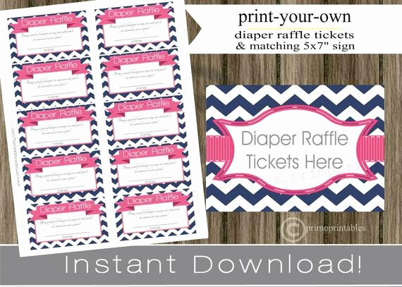 Making Your Own Raffle Tickets New Baby Shower Diaper Raffle Tickets with Matching Sign Navy Blue