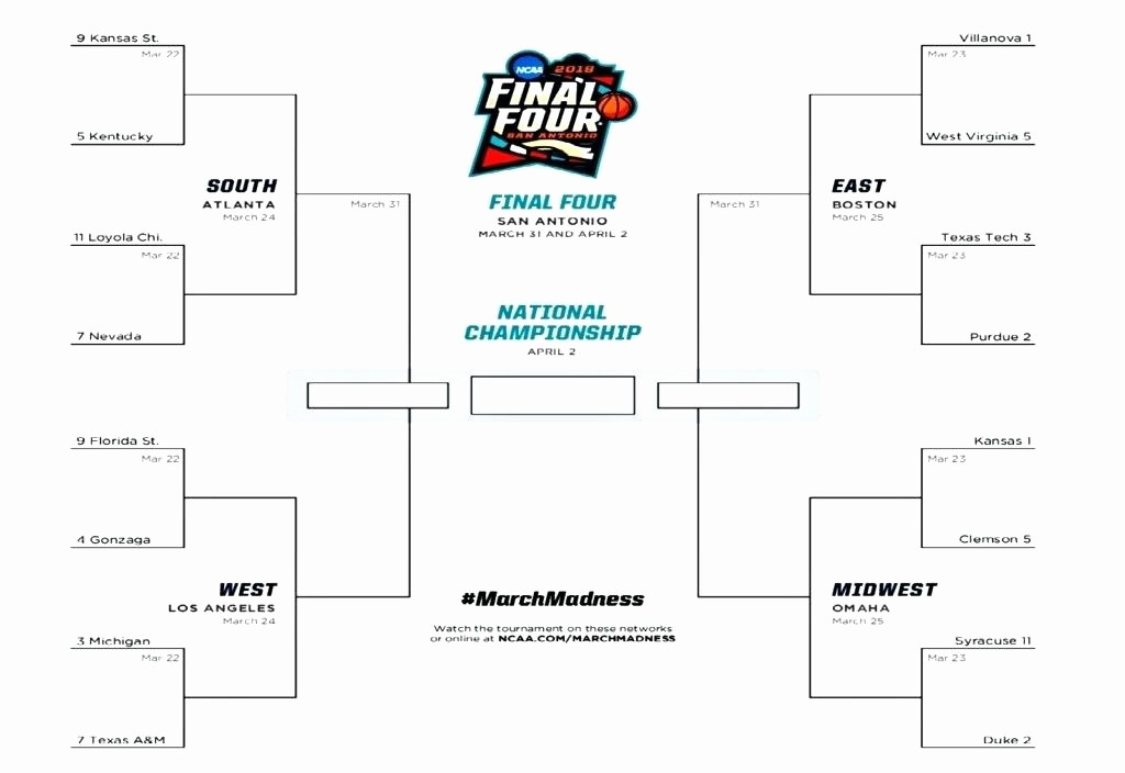 March Madness Bracket Word Document Awesome Blank tournament Bracket Template Excel – Azserverfo