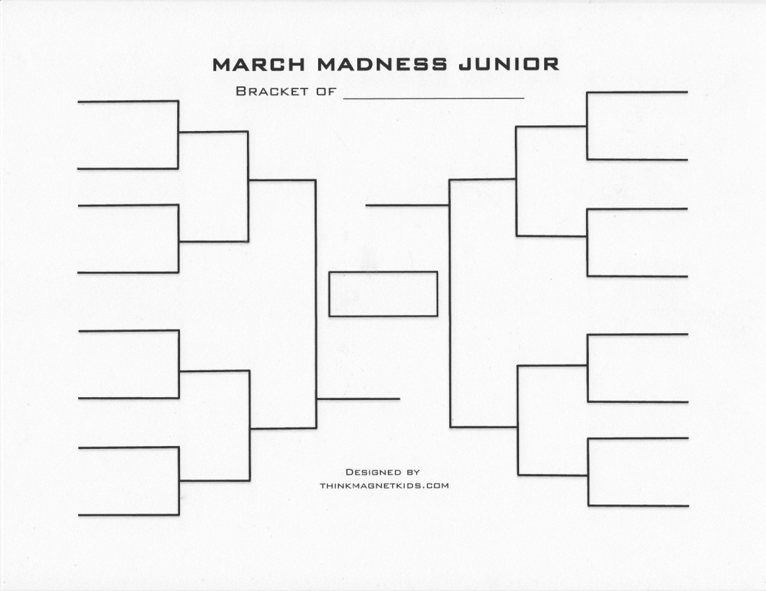 March Madness Bracket Word Document Beautiful March Madness Junior Bracket and Basketball Activities for