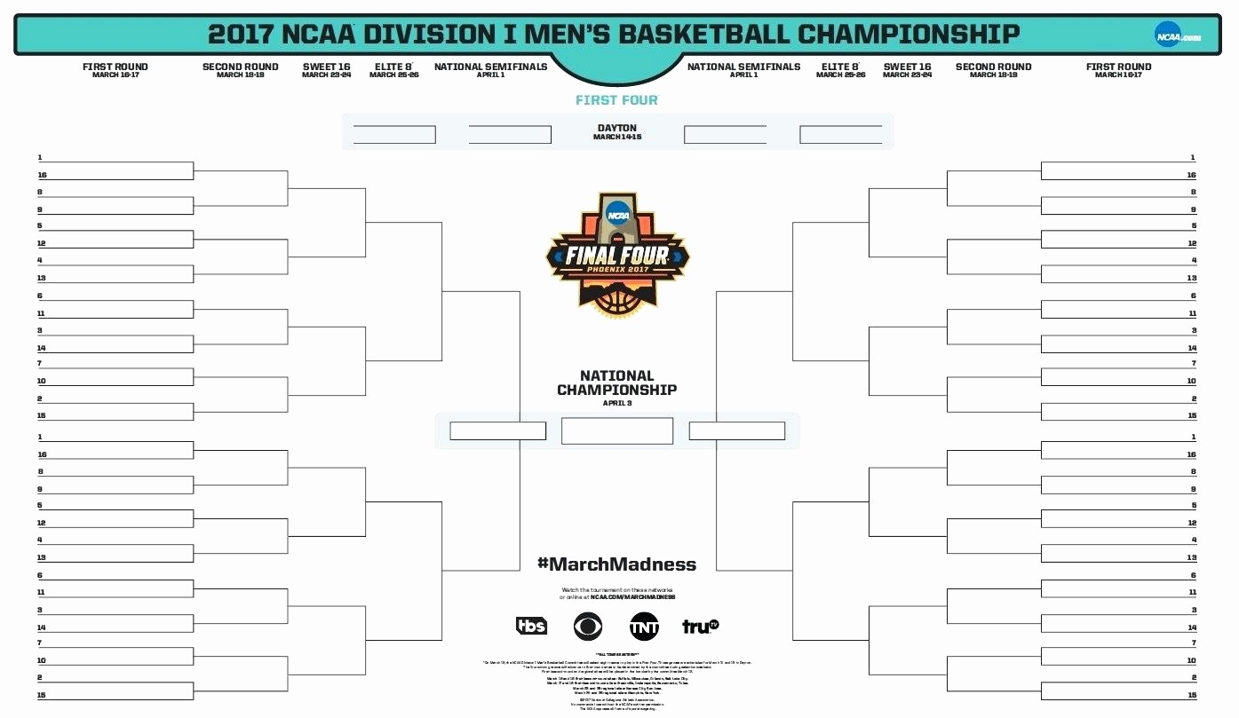 March Madness Bracket Word Document Best Of Template tournament Template