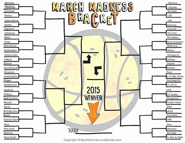 March Madness Bracket Word Document Elegant March Madness Printable Bracket 2014 Here is A Great