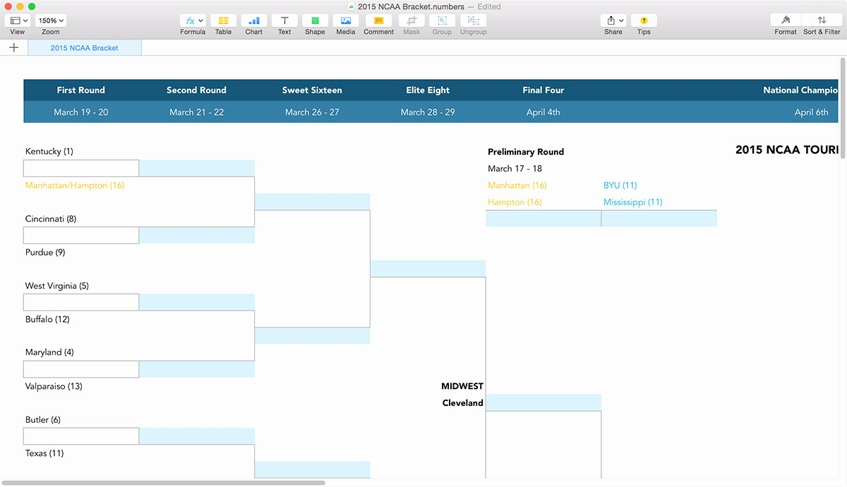March Madness Bracket Word Document Fresh Ncaa March Madness Bracket Template