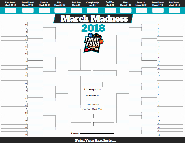 March Madness Bracket Word Document Inspirational the Latest Hiss