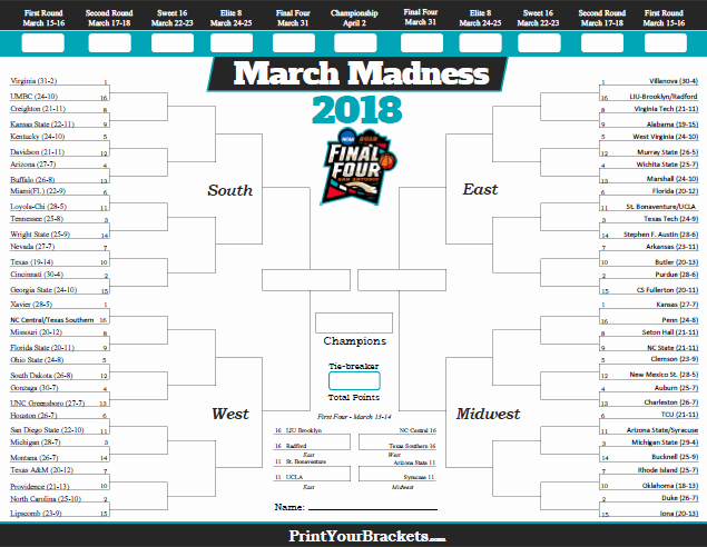 March Madness Bracket Word Document Lovely Meandering to the Great E