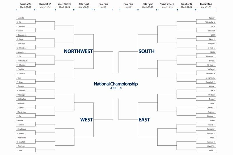 March Madness Bracket Word Document New March Madness