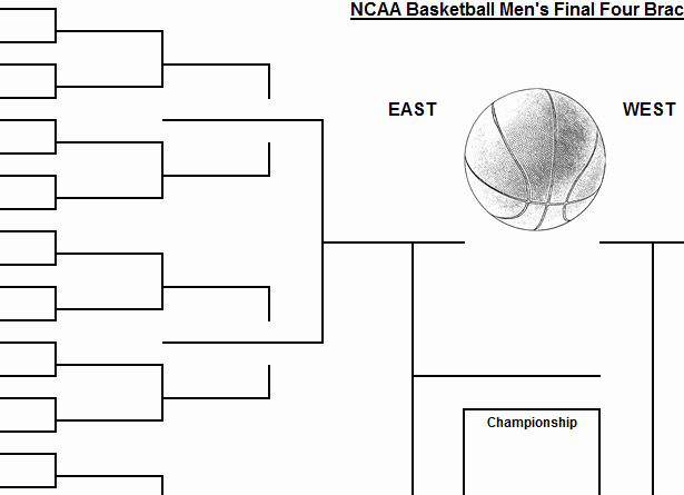 March Madness Bracket Word Document New Simple March Madness Bracket Template Template Haven