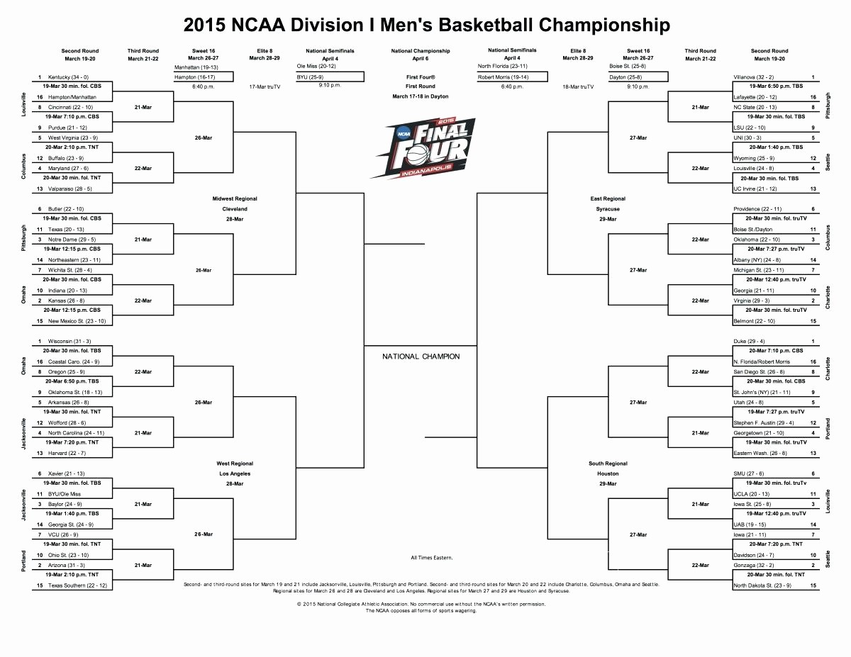 March Madness Bracket Word Document Unique March Madness Bracket Template