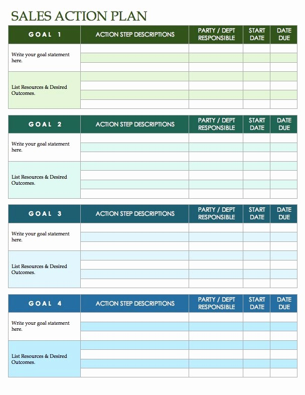 Marketing Action Plan Template Excel Awesome Free Sales Plan Templates Smartsheet