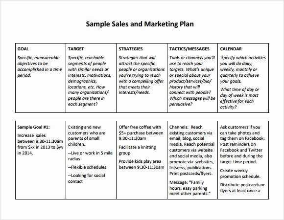 Marketing Action Plan Template Excel Beautiful Free Sales Plan Templates Free Printables Word Excel