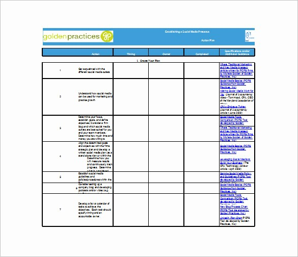 Marketing Action Plan Template Excel Fresh Free Excel Action Plan Template Free Action Plan