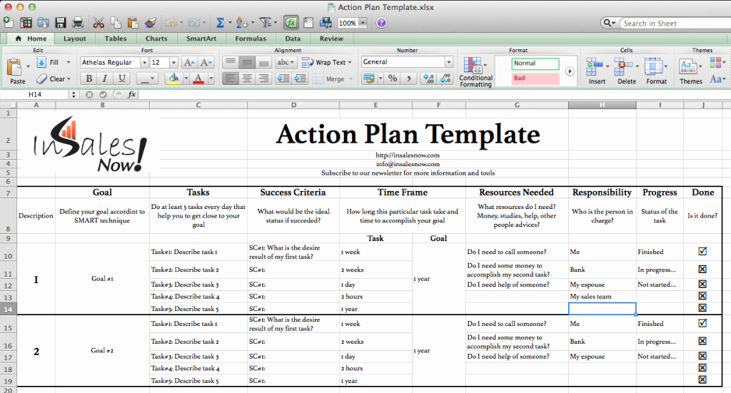 Marketing Action Plan Template Excel Fresh Perfect Business Action Plan Template Example In Excel