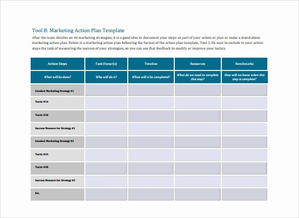 Marketing Action Plan Template Excel Luxury 15 Marketing Action Plan Templates to Download for Free