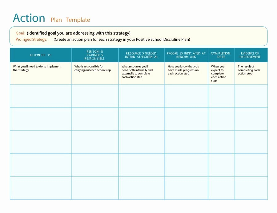 Marketing Action Plan Template Excel Luxury 45 Free Action Plan Templates Corrective Emergency