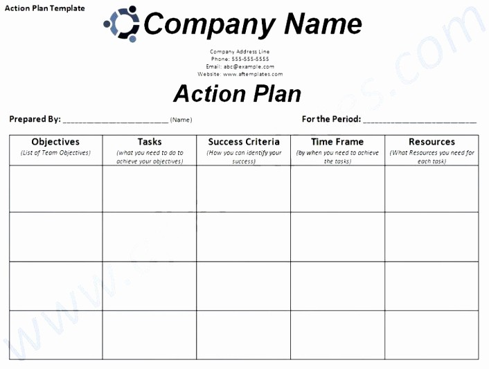 Marketing Action Plan Template Excel New 6 Smart Action Plan Template Word Poiwa