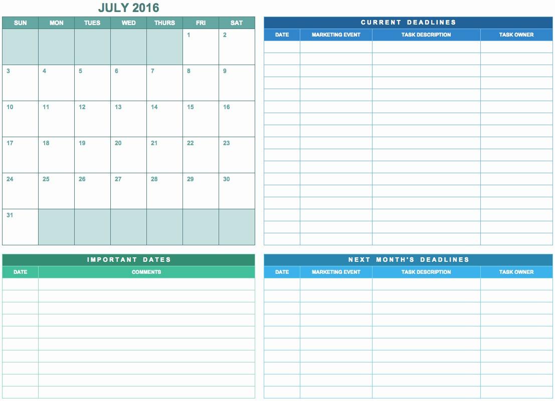Marketing Calendar Template Excel 2015 Beautiful Marketing Calendar Excel Template