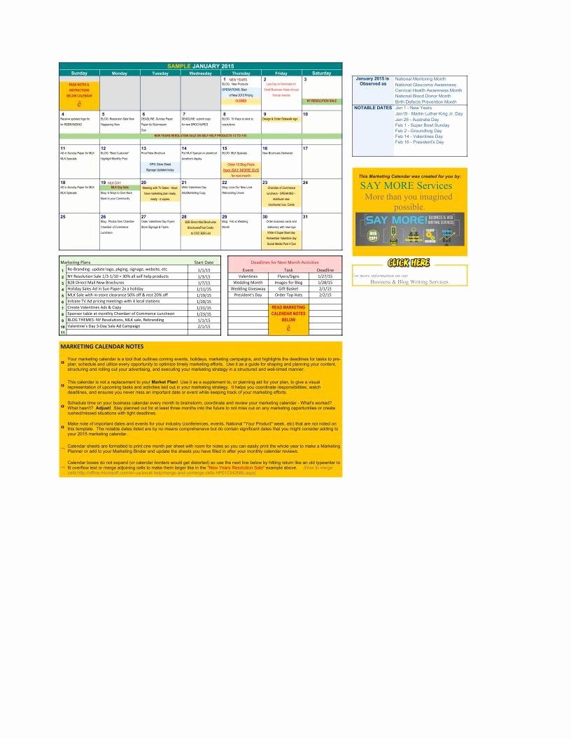 Marketing Calendar Template Excel 2015 Elegant Marketing Calendar 2015 Template Pdf Google Sheet