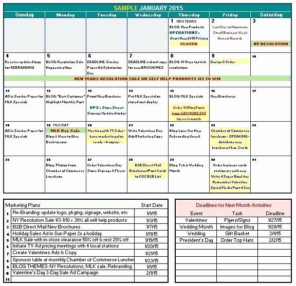 Marketing Calendar Template Excel 2015 Elegant Marketing Calendar Template Excel Email Tracking