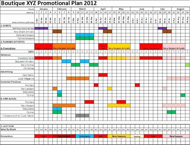 Marketing Calendar Template Excel 2015 Elegant Promotional Calendar Template Retail Marketing
