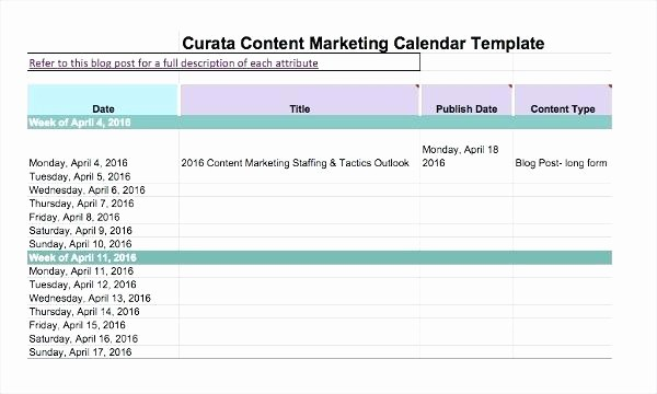 Marketing Calendar Template Excel 2015 Inspirational Marketing Calendar Template Excel Email Tracking