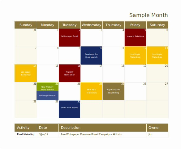 Marketing Calendar Template Excel 2015 Luxury 18 Marketing Template Doc Excel Pdf Psd