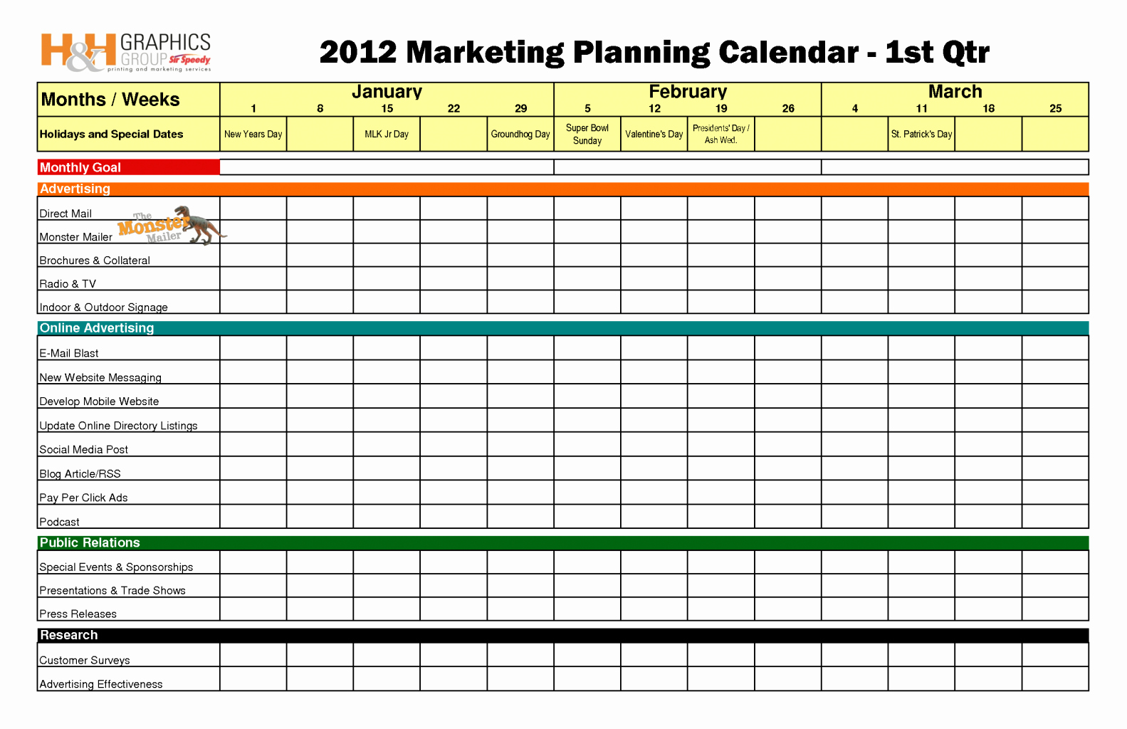 Marketing Calendar Template Excel 2015 Luxury Marketing Calendar Template