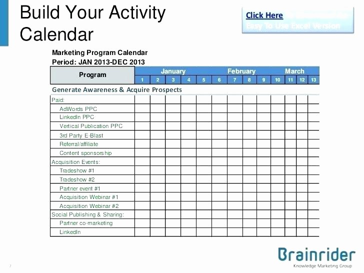 Marketing Calendar Template Excel 2015 Unique Marketing Calendar Template Excel Email Tracking