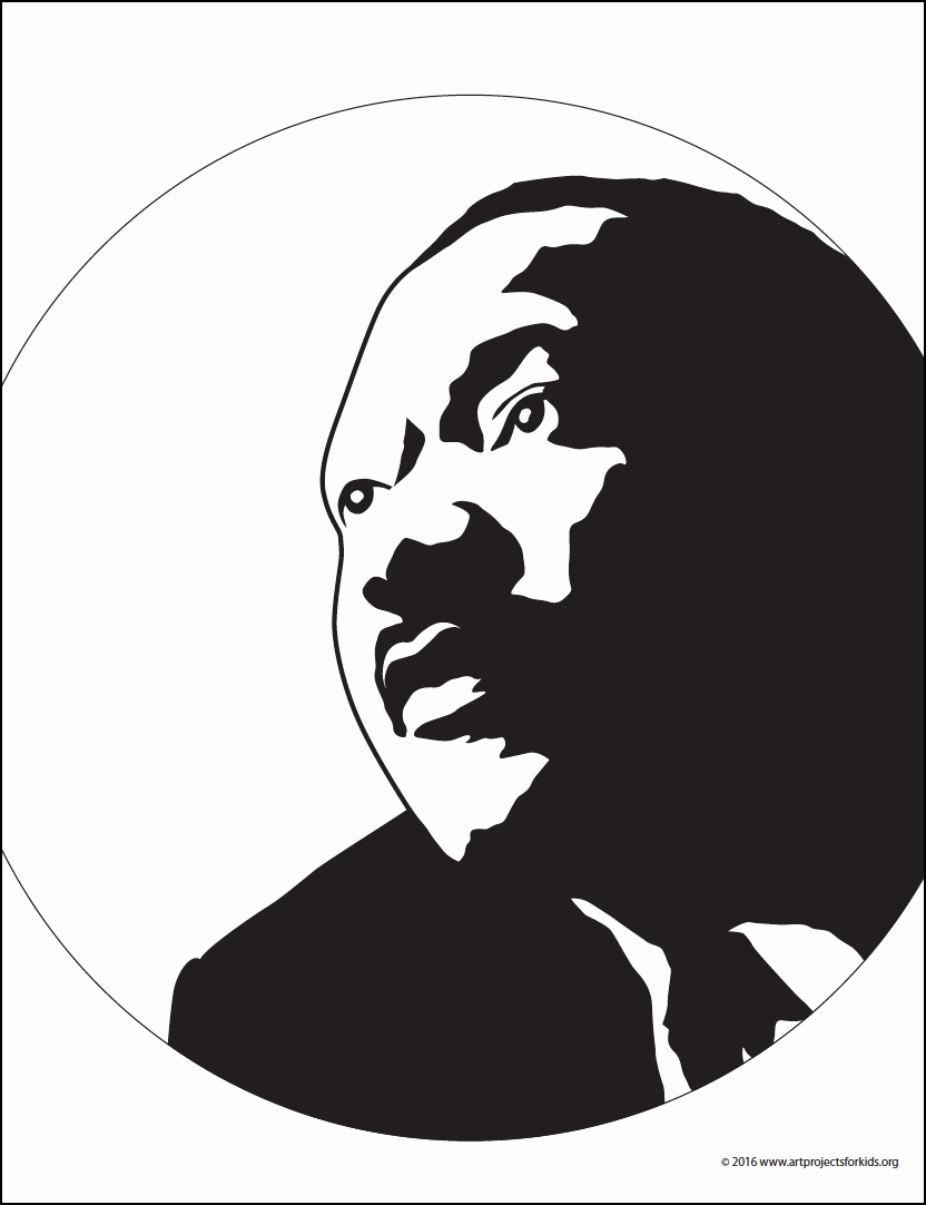Martin Luther King Jr Template Awesome Martin Luther King Silhouette