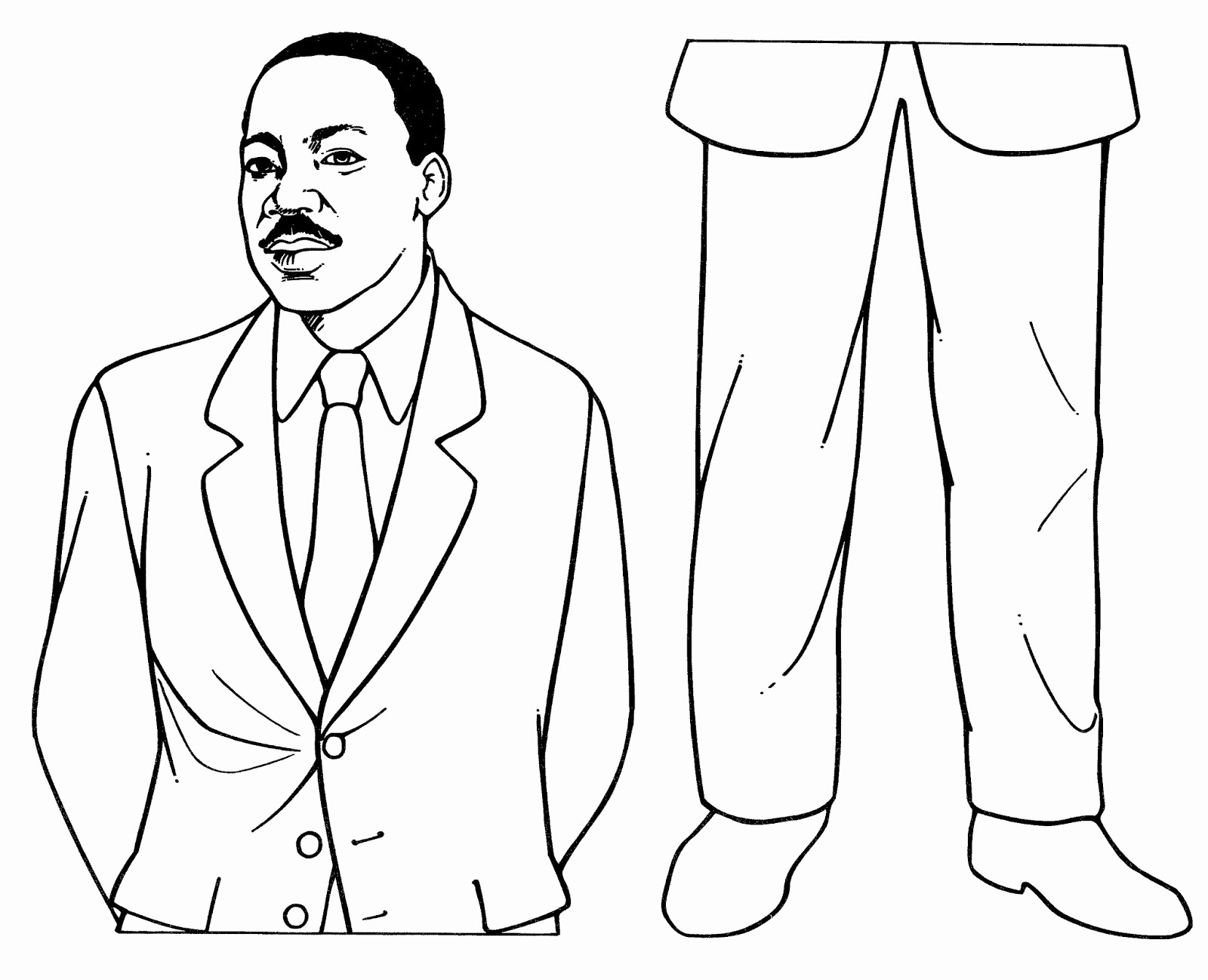 Martin Luther King Jr Template Awesome Mostly Paper Dolls too January 2015
