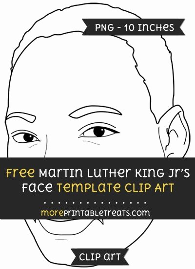 Martin Luther King Jr Template Beautiful Free Martin Luther King Jrs Face Template Clipart