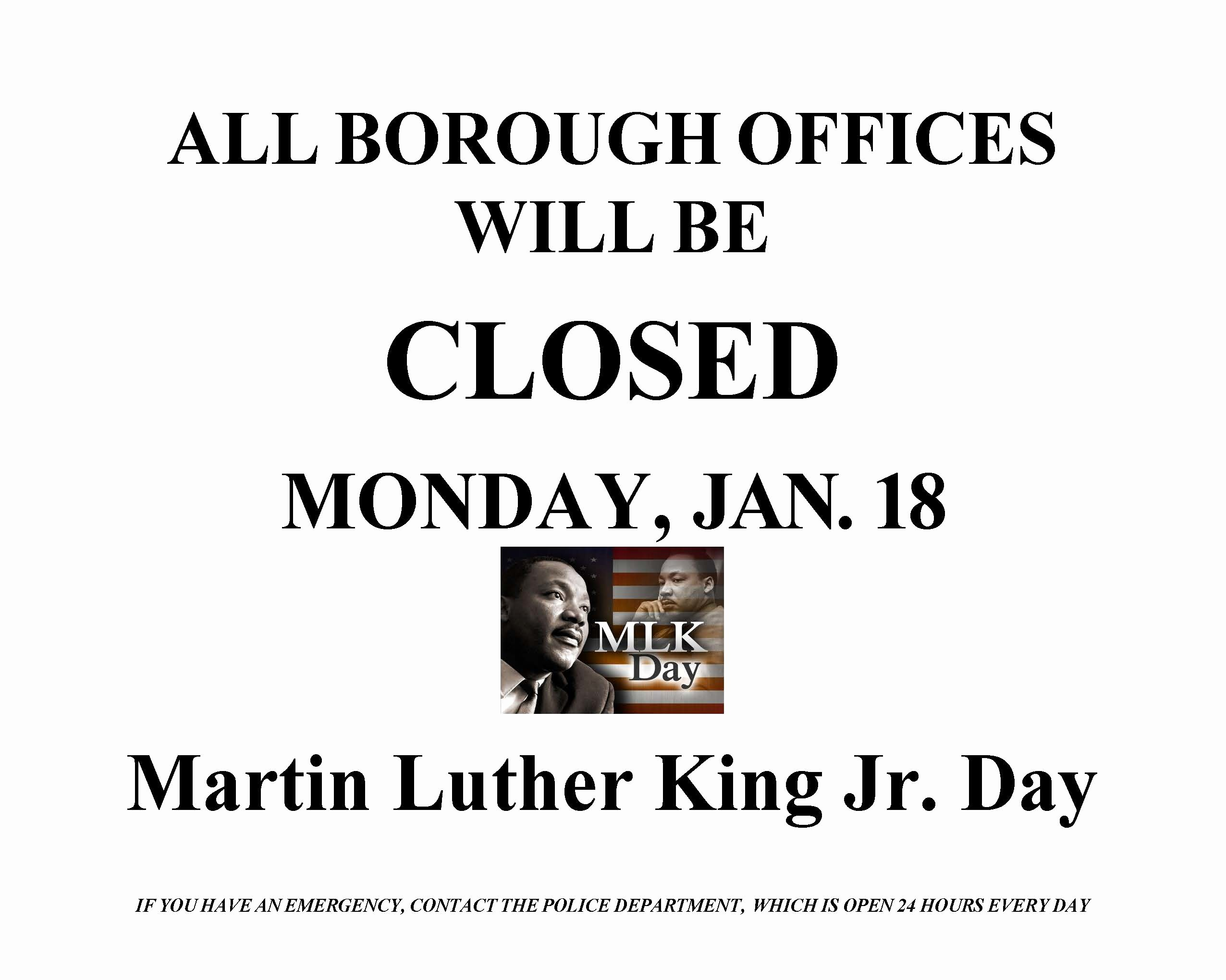 Martin Luther King Jr Template Best Of Whats Open Whats Closed Martin Luther King Jr Day