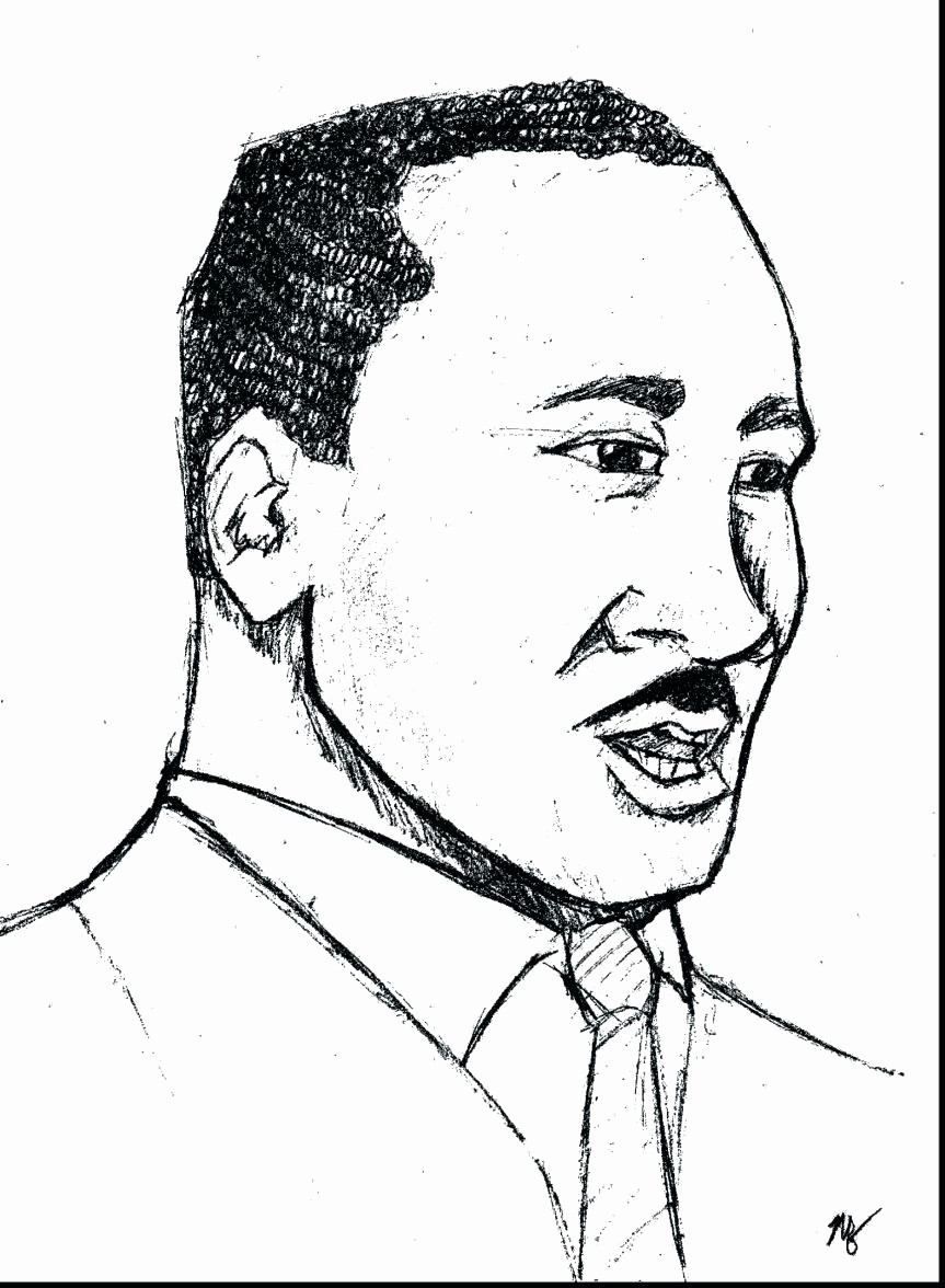 Martin Luther King Jr Template Elegant Martin Luther Drawing at Getdrawings