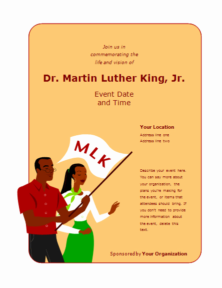 Martin Luther King Jr Template Fresh Flyer for Martin Luther King Jr Day event