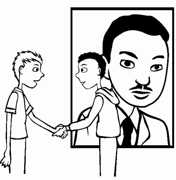 Martin Luther King Jr Template Fresh Printable I Have A Dream Speech Coloring Pages