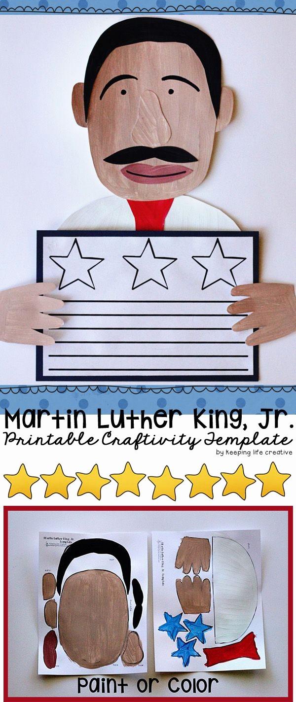 Martin Luther King Jr Template Inspirational Craft Templates