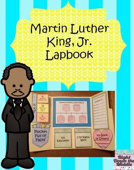 Martin Luther King Jr Template Lovely Right Down the Middle Martin Luther King Jr Lapbook Success