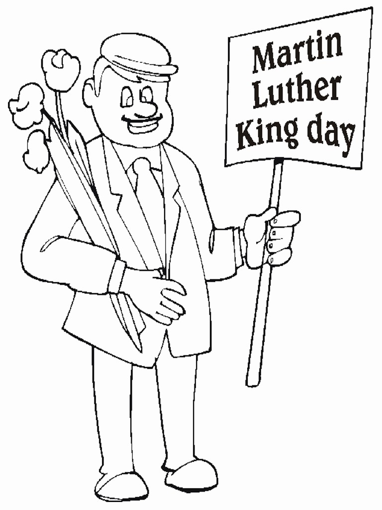 Martin Luther King Jr Template Luxury Luther Rose Coloring Sheet Coloring Pages