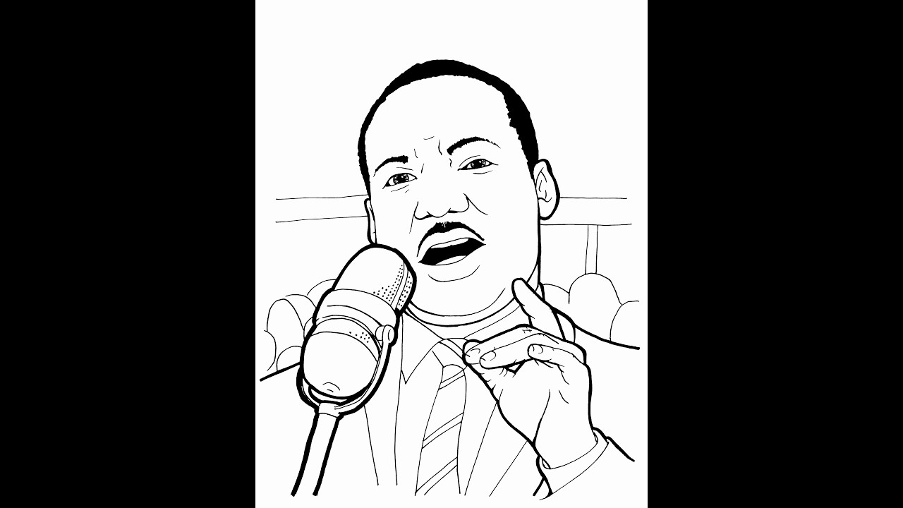 Martin Luther King Jr Template Unique Dr Martin Luther King Coloring Pages Coloring Pages