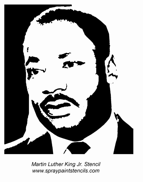 Martin Luther King Jr Template Unique Stencils On Pinterest