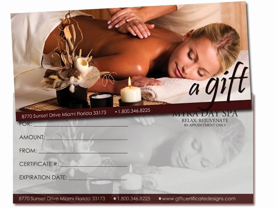 Massage Gift Certificate Template Word Awesome 25 Best Images About Gift Certificates On Pinterest