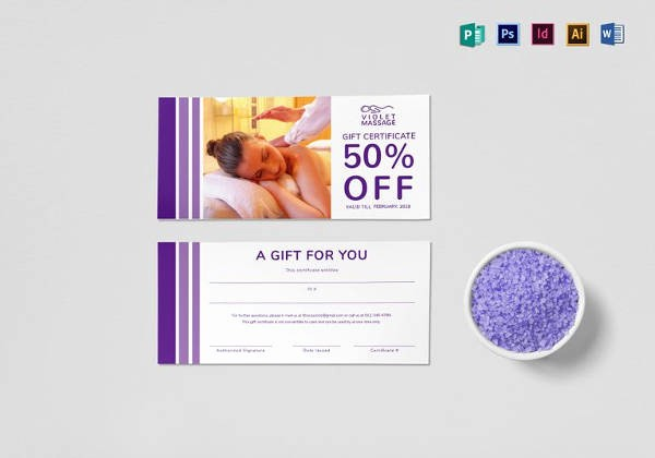 Massage Gift Certificate Template Word Best Of Best Gift Certificate Templates 38 Free Word Pdf