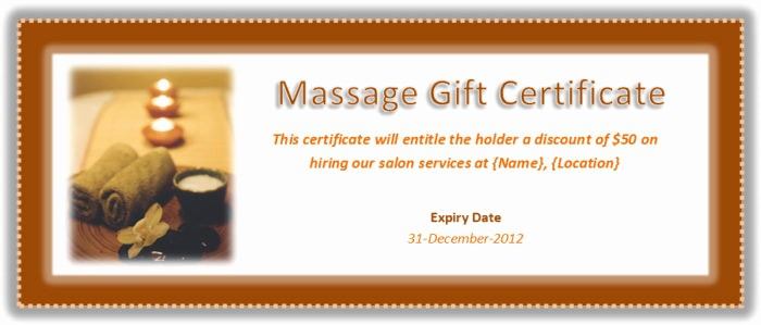 Massage Gift Certificate Template Word Best Of Birthday Gift Voucher Template Word Templates Resume