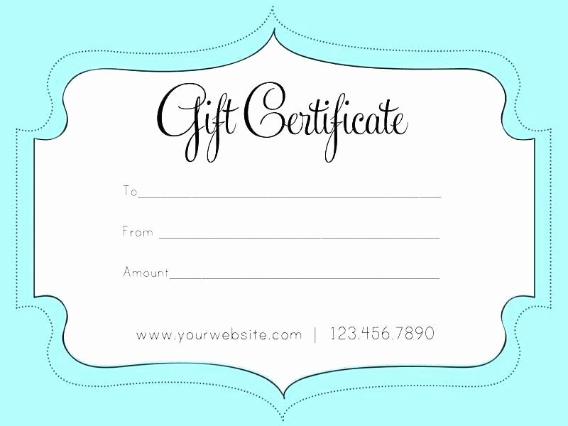Massage Gift Certificate Template Word Elegant Gift Certificate Blank Template Snowman Sample Gift