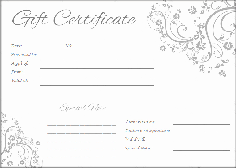 Massage Gift Certificate Template Word Elegant Massage Gift Certificate Templates Word