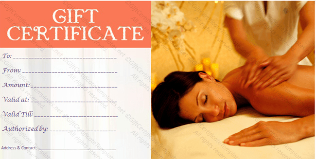 Massage Gift Certificate Template Word Inspirational Printable T Certificate Template Gift Certificate